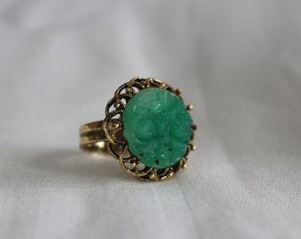 Jade Lucite Ring