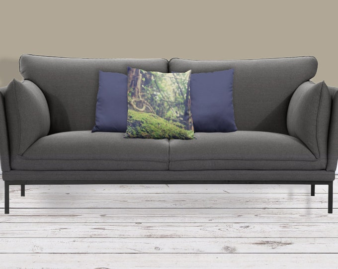 Soft Greens Sofa Pillow, Woodland Accent Pillow, Bokeh Throw Pillow Cover, 18x18 22x22 Decorative Pillow Cushion, Rainforest Tropical Zen