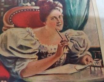 1800s LARKIN SOAP Advertising booklet Vibrant Illustrations Home Furnishings