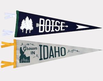 Idaho & Boise Pennants - BANANA ink