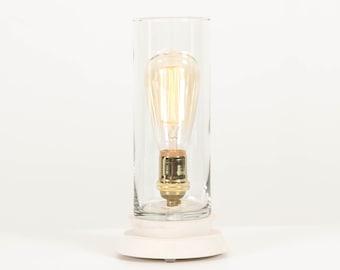 Lighting, Modern Table Lamp, Edison Bulb Lighting- Lantern Pedestal Lamp
