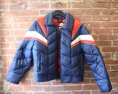 1970s Ski Jacket Red White and Blue / by White Stage / Size Large