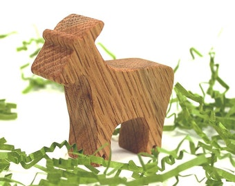 Natural Wood Farm Animal Toy Goat, Wooden Toy, Handmade Wood Toy
