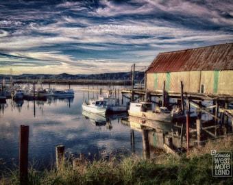 Outdoor Photography, Coastal Scenery, Washington Coast, Olympic Peninsula, Tokeland Pier and Marina