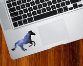 """CLR:TP - Cosmic Horse - Galaxy Guide - Vinyl Decal for Trackpad   Tablets   Indoor Use - © 2016 YYDCo. (3.5""""w x 2""""h)"""