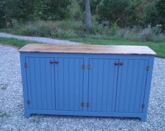 Sideboard, Buffet, Rustic Sideboards, BluePainted Sideboard