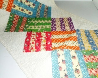 Centerpiece, Table Runner, Handmade Linen ,Reversible Table Runner