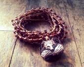Foxes Den: Versatile crocheted necklace / bracelet / belt / headband
