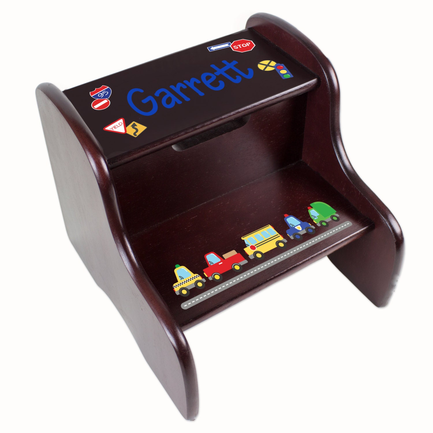 Personalized Cars Amp Trucks Transportation Step Stool By