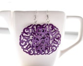Purple Filigree Metal Dangles