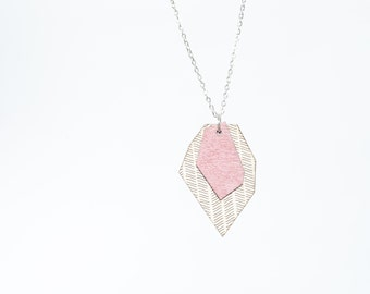 nice minerals necklace mauve