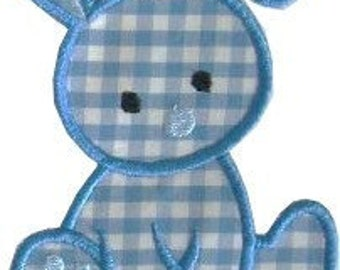 Baby Bunny Appliqued  Embroidered Patch , Sew or Iron on