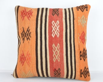 Handmade Wool Pillow Cover, Bohemian Pillow, Kilim pillow, Kilim Pillow Cover nkp109, Turkish Pillow, Bohemian Decor, Moroccan Pillow, Kilim