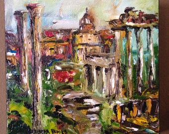 Rome, Original Oil Painting