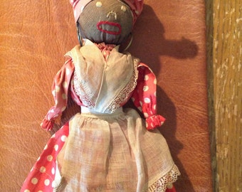 Vintage Souvenier Mammy Doll from New Orleans c. 1930's. Vintage Black Americana.