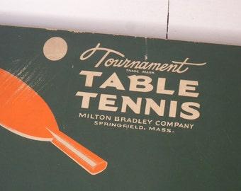 Vintage Milton Bradley Company Tournament Table Tennis Set