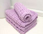 Lavender Cotton Dishcloths - Eco Friendly Dishcloths - Lavender Crochet Dishcloths - Set of 4