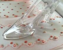 """12 Cinderella clear shoe, 3.5"""" clear shoe, shoe favor, wedding favors, quincianera favors."""