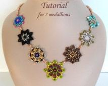 LUCKY SEVEN beaded pendants beading tutorial beadweaving pattern seed bead beadwork jewelry beadweaving tutorial beading pattern instruction