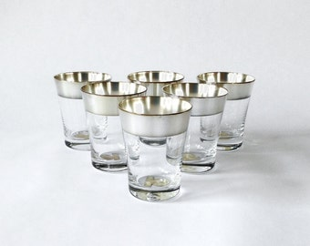 Dorothy Thorpe Cordial Glasses, Set of 6, Original Labels