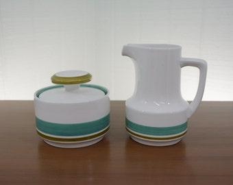 Noritake Craftone Blue Sky Sugar and Creamer Set