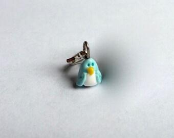 gtbg Hand Sculpted Mini Bluebird Removable Stitch Marker Progress Keeper