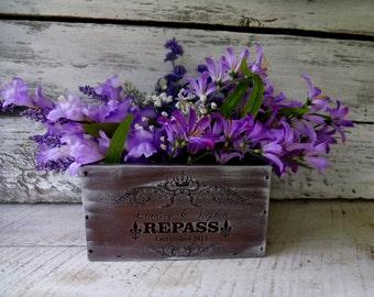 Planter Box, Rustic Planter Box, French Country Planter Box, Wedding Centerpiece, Centerpiece Box,Personalized Planter Box