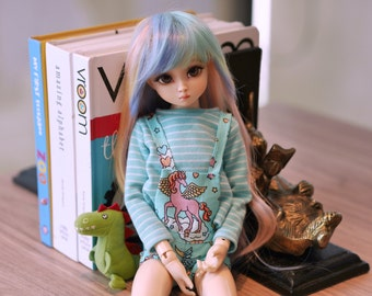 MSD Green mint unicorn overall set