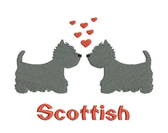 Instant download dogs scottish embroidery design machine