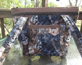 Sporting Dogs Machine Quilted Purse