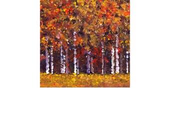 Autumn Treescape B 8x10 Color Print