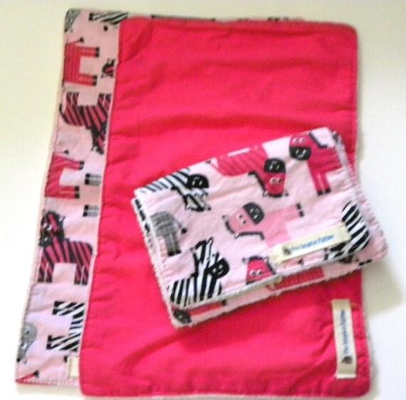 Wash Burp Cloths Before Use: Pink Zebra Burp Cloth Hot Pink Cotton Burp By