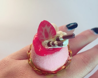 Kawaii Strawberry Jelly Cake Dessert Ring