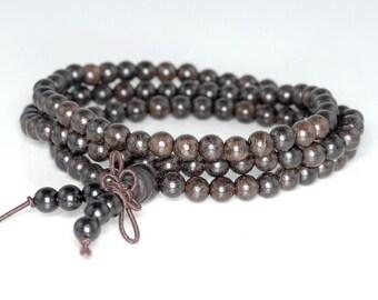 5mm 108PCS Rosewood Dark Prayer Buddha Japa Mala Meditation Beads Round Loose Beads BULK LOT (80000237-782)