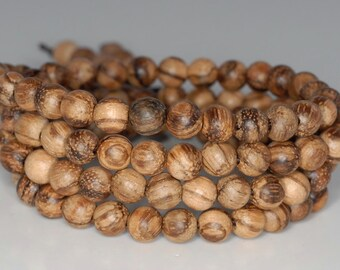 6mm 108PCS Vietnam Sandalwood Qinan Garde AA Prayer Buddha Mala Meditation Beads Round Loose Beads BULK LOT (90183150-258)