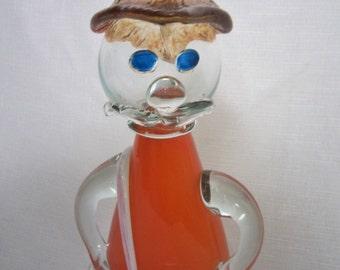 Midcentury Glass Figure