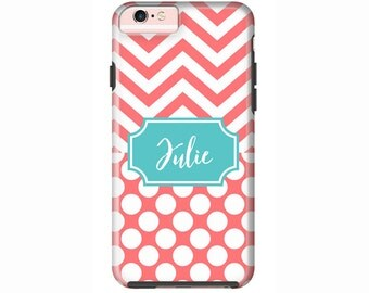 Custom iPhone 7 or iPhone 7 Plus Cases | Personalized Case Mate Tough or Barely There cases iPhone 6, iPhone 6 Plus  & More - Chevron Dots