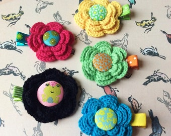 Baby hair clip newborn hair clips baby girl hair clip toddler hair clips Flower Clippies Little Girl clips clippy clippie clippies