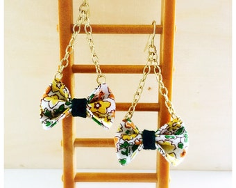 Handmade Mini Bow Earrings