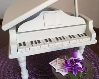 Barbie Doll House IVORY PIANO Music VIGNETTE Room Furniture & Accessories Musical Instruments Concert Orchastra