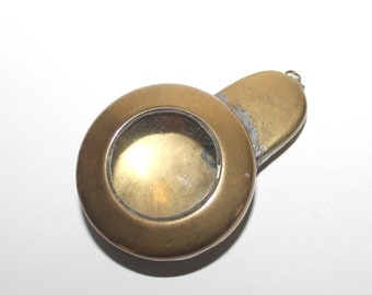 Antique brass Miner's pocket watch case.