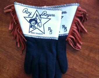 Roy Rogers gloves- cowboy gloves- childrens gloves-fringe gloves-Dale Evans