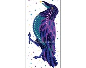 Crow greetings card (tall)