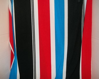 Vintage Retro Striped Fabric