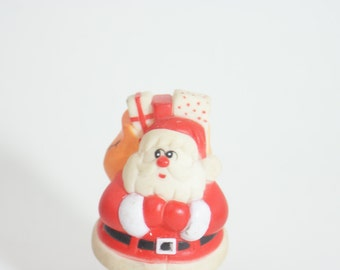 Santa Rubber Vintage Claus Christmas Boots Figure Vtg Red Rare Decoration