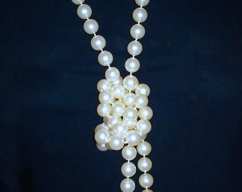 Vintage Very Long Faux Pearl necklace