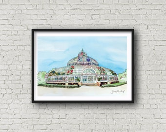 Palm House - Sefton Park - Liverpool - PRINT