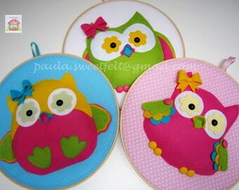 Trio of Owl frames