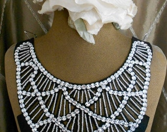 Clear Stone Beaded Collars