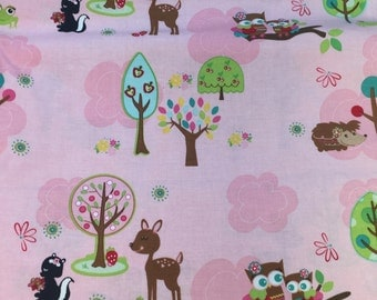 Riley Blake Fabric by Doohickey Designs Hoo's in The Forest One Yard Of Fabric READY TO SHIP!!!